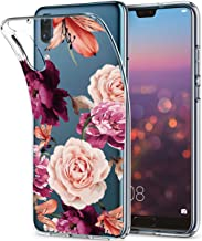 BAISRKE Huawei P20 Case, Huawei P20 Case with Flowers Slim Shockproof Clear Floral Pattern Soft Flexible TPU Back Cove for...