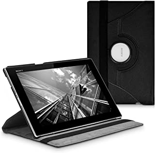 kwmobile 360° Case for Sony Xperia Tablet Z - PU Leather Protective Tablet Cover with Stand Function - Black