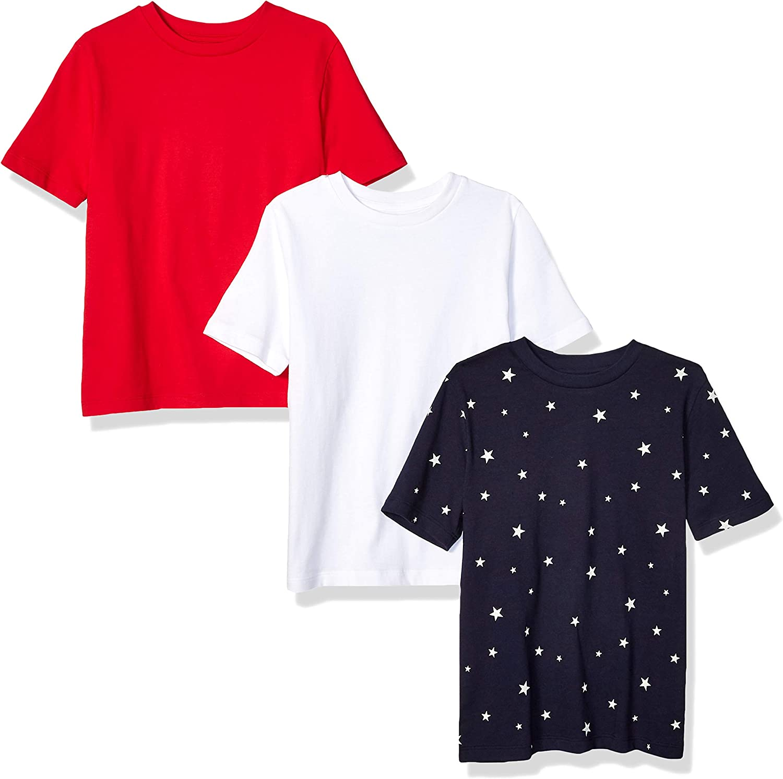 Amazon Essentials Boys' Short-Sleeve T-Shirts