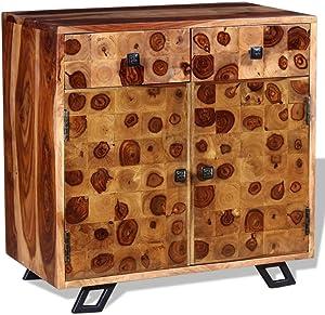 vidaXL Credenza in Legno Massello di Sheesham 65x35x65 cm Madia Mobiletto