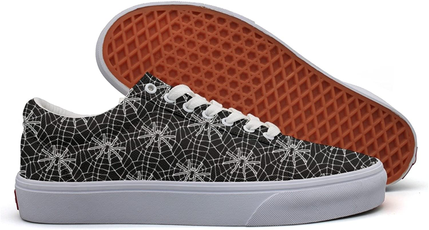 Spider Web Pattern Women's Casual Sneakers shoes Boat Slip News Trainers