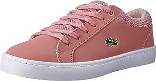 Lacoste Straightset 318 1 Kids Fashion Shoes, PNK/NAT