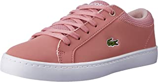 Lacoste Straightset 318 1 Kids Fashion Shoes, PNK/NAT