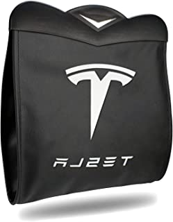 Farmogo Tesla Model 3 Model Y Trash Can Back Seat Garbage Bin Hanging Organizer Magnet Switch Waterproof Trash Bin with LE...