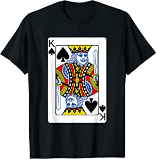 King Of Spades Playing Card T-Shirt Poker Player Costume