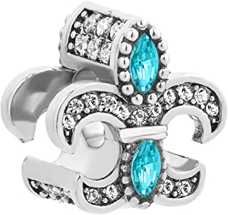 Fleur De Lis Charm For Bracelets