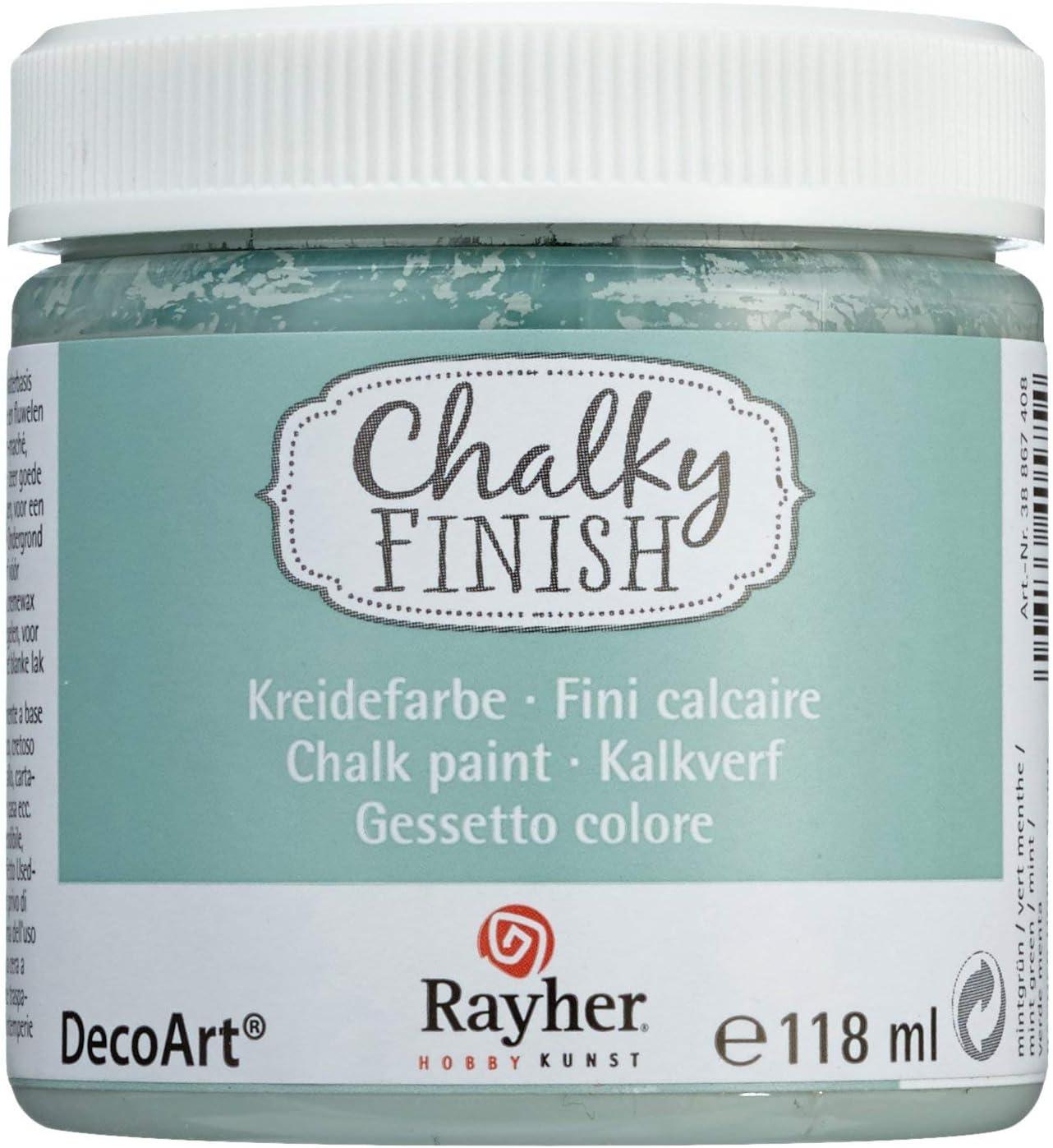 RAYHER HOBBY Chalky Finish, verde menta, bote 118ml