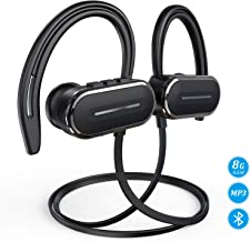 Bluetooth Headphones, HSPRO Wireless Earbuds, 8GB Built-in Memory MP3 Player, Sports Headphones Bluetooth Earbuds, IPX5 Sweatproof Wireless Headphones with Microphone, HD Stereo Sound Sport Earphones
