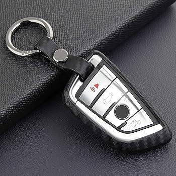 VSLIH Carbon Fiber Style Carbon Fiber Texture Car Key Case Cover Holder Pouch Remote Key Bag Fit for BMW keyless Remote Control Smart Key Fob Holder 1//2//3//4//5//6//M//X Series X3 keychian