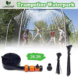 Landrip Trampoline Sprinklers for Kids, Outdoor Water Play Sprinklers, Trampoline Spray Waterpark Fun Summer Water Toys(26.2 Feet)