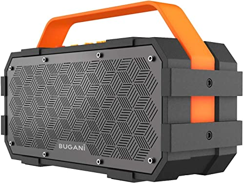 Bluetooth Speaker, Bugani M90 Portable Bluetooth Speaker with 30W Stereo Sound and Deep Bass,Long-Term Playback,Bluet...