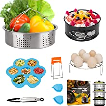 Mini 3 Quart Accessories for Instant Pot 3 QT or 4 Qt Instapot, including Steamer Basket, Egg Trivet Rack, Cheesecake Pan, Bonus Recipe E-Book