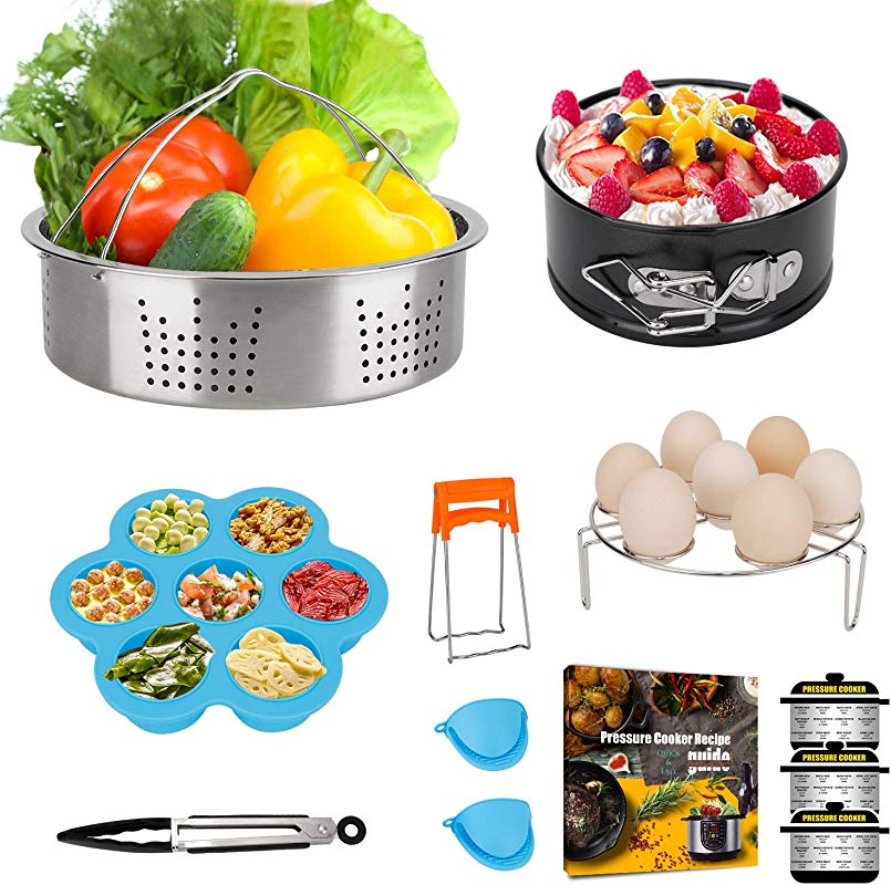 Mini 3 Quart Accessories For Instant Pot 3 QT Or 4 Qt Instapot Including Steamer Basket Egg Trivet Rack Cheesecake Pan Bonus Recipe E Book