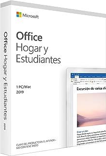 Microsoft 79G-05210 Office Hogar y Estudiante 2019, 8 GB, Plateado/Negro