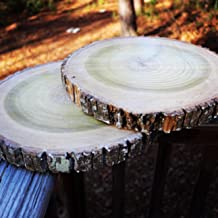 Best log slice table decorations Reviews