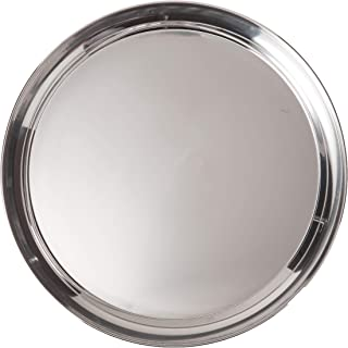 Libertyware 16 Inch Round Stainless Steel Serving Tray, Silver