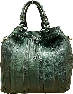 BZNA Bag Thora grün vintage Italy Designer Business Damen Handtasche Ledertasche Schultertasche Tasche Leder Shopper Neu