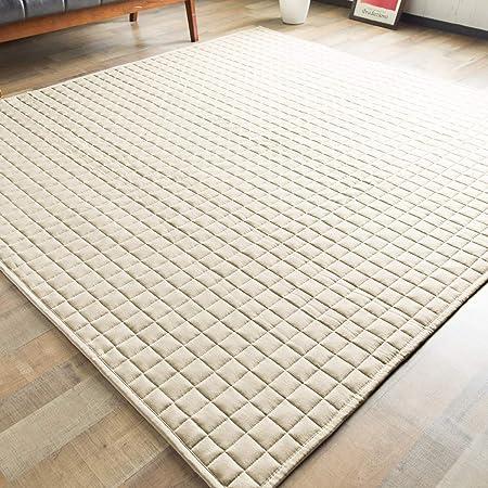 システムK ラグ カーペット ラグマット 防ダニ 抗菌 防臭 デニム生地 洗える アイボリー 185×185cm