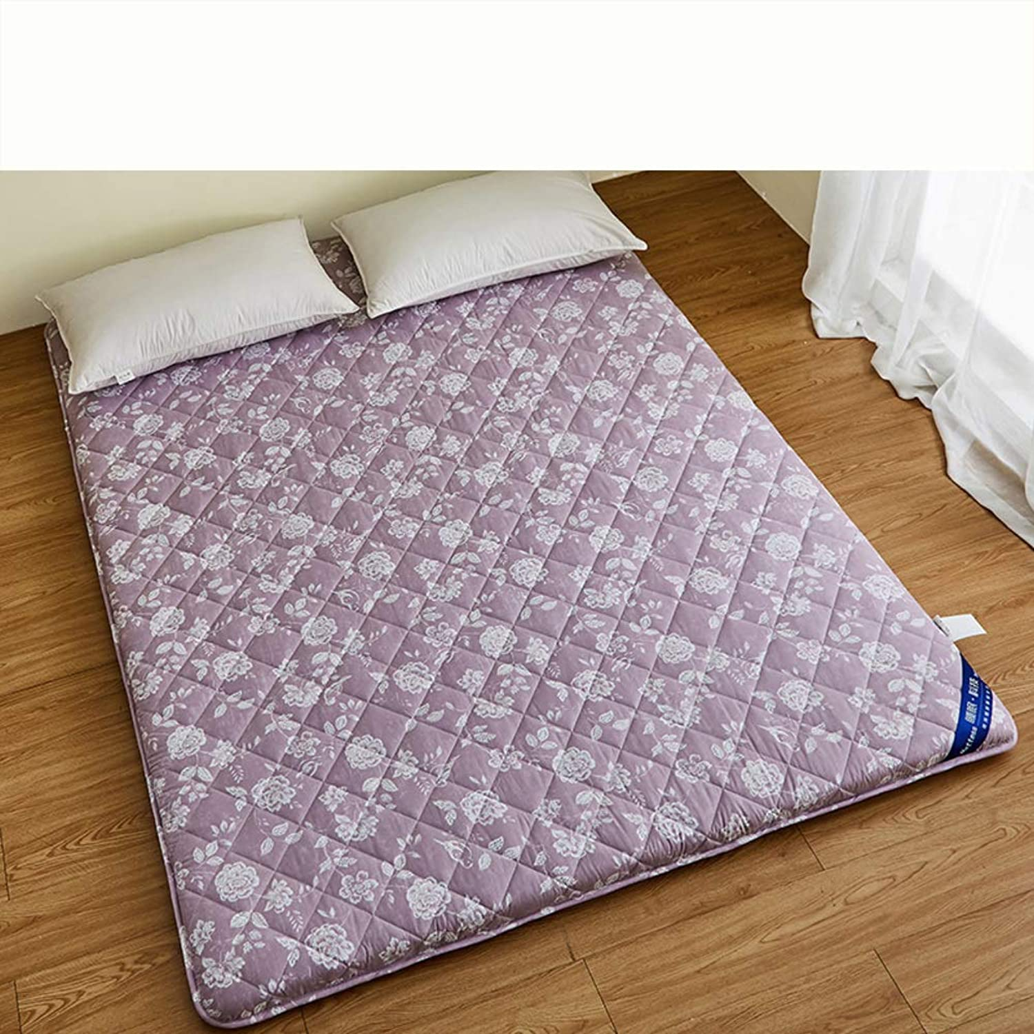 Thick Premium Mattress pad, Japanese Futon Matt mat Sleeping Quilted Fitted Mattress Topper Pad for Student Dormitory Home-B 90x190cm(35x75inch)