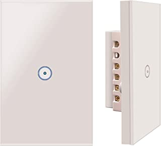 Useelink WiFi Smart Wall Touch Light Switch, Smart Phone Remote Control, Compatible with iOS and Android,Compatible with A...