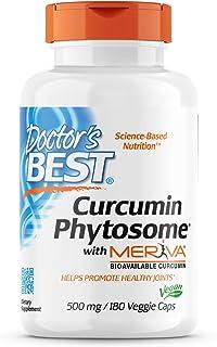 Doctor's Best, Curcumin Phytosome with Meriva, 500 mg, 180 Veggie Caps