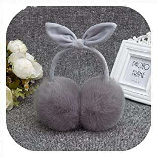 2019 Girls Lovely Rabbit Fur Winter Earmuffs Ear Cache Warmers Winter Comfort Earmuffs Warm Winter Earmuffs For Women,A