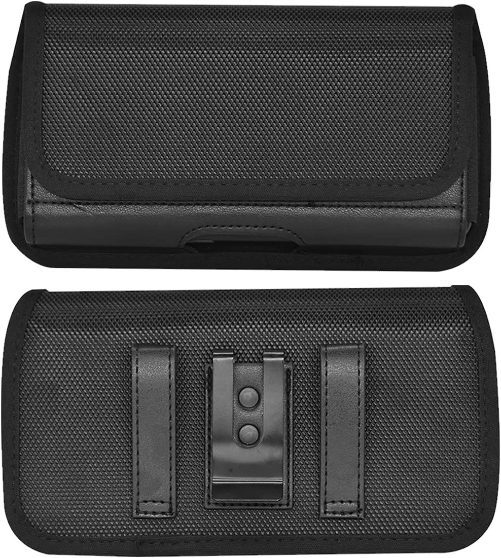 Cell Phone Holster Belt Clip Case Horizontal Waist Wallet Pouch with ID Cards Holder For Motorola Moto E G Stylus G8 Plus G7 Power Z4 G6 Play, Blu G9 Vivo X6 Google Pixel 4 XL, Mi Note 10 OnePlus 8 7T