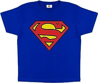 DC Comics Superman Classic Logo Jongens T-shirt | Official Merchandise | Kinderen Superhero Top, Idee van de Gift voor jon...
