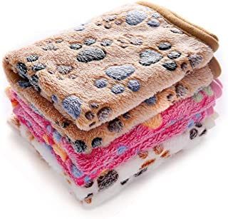 luciphia 1 Pack 3 Blankets Super Soft Fluffy Premium Fleece Pet Blanket Flannel Throw for Dog Puppy Cat - Paw