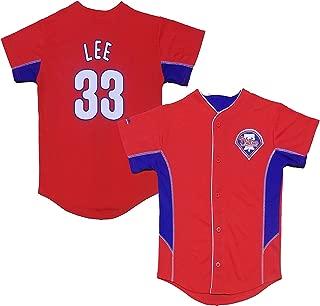Cliff Lee Philadelphia Phillies #33 Red Toddler Team Leader Jersey