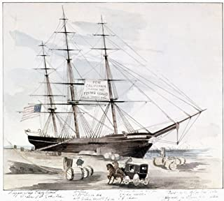Clipper Flying Cloud 1851 NFlying Cloud At Her New York Dock In The East River Watercolor By John C Wade 1851 Poster Print by (18 x 24)