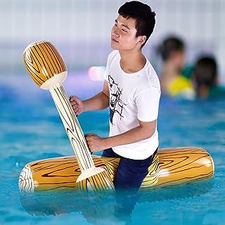 JULYKAI 4 Unids/Set Juguetes Inflables de Fila Flotante, Juego de Juego de Piscina Inflable, Flotador Ride-On Row Deportes Acuáticos para Niños Fiesta de Piscina para Adultos