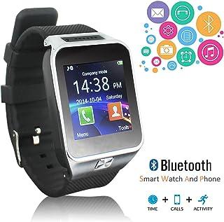 Nueva 2017Bluetooth reloj inteligente y teléfono (GSM desbloqueado) + construido en cámara + SMS/llamada recordatorio