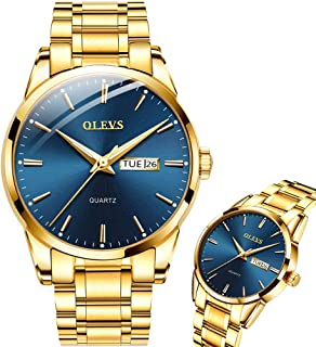 OLEVS Mens Watches Day and Date,Wrist Watch for Men Waterproof Analog Quartz Watch,Stainless Steel Mens Classic Dress Watch,Mens Watches Fashion Business Casual Roman Wristwatch