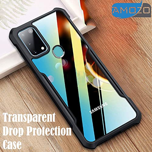 Amozo Shockproof Transparent Bumper 360 Degree Camera Protection Case Cover For Samsung Galaxy M31
