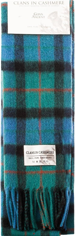 Luxury 100% Cashmere Scottish Clan Scarf Gunn Ancient