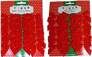 mini red velvet bows