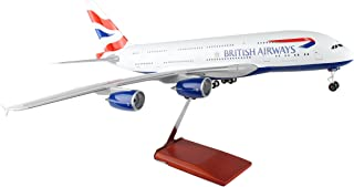 Daron Skymarks British Airways A380 Airplane Model with Wood Stand & Gear (1/100 Scale)