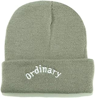 HMJZLy Male and Female Letters Embroidered Woolen Headgear Street Warm Knit hat (Color : Green, Size : 56-58cm)