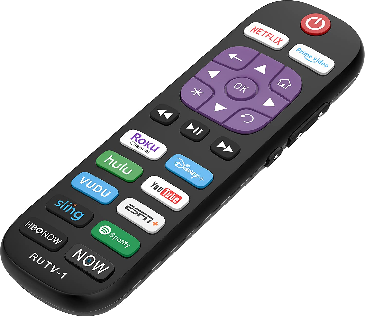 Replacement Remote Control for All Roku TV Brands [Hisense/TCL/Sharp/Insignia/ONN/Sanyo/LG/Hitachi/Element/Westinghouse] w/ 12 Shortcut Keys [NOT for Roku Stick]