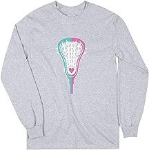 Girls Lacrosse Long Sleeve T-Shirt   Lacrosse Stick Heart