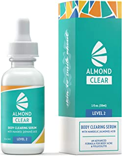 Body Clearing Serum, Level 2 - Advanced formula for severe body acne, folliculitis- back, butt, chest, thighs, shoulders - mandelic acid - naturally antibacterial/antifunga, 1 fl oz