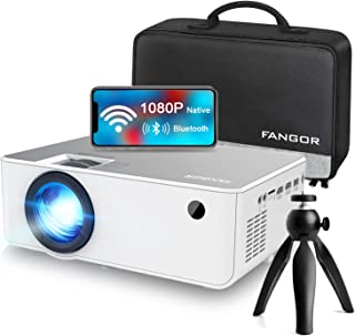 """1080P HD Projector, WiFi Projector Bluetooth Projector, FANGOR 230"""" Portable Movie Projector with Tripod, Home Theater Vid..."""
