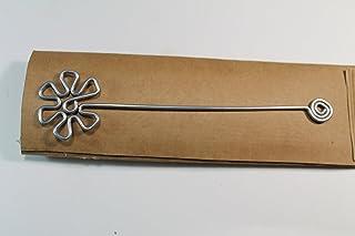 Segnalibro Fiore Argento,interamente realizzato a mano in alluminio e corredato di custodia in cartoncino,anch'essa realiz...
