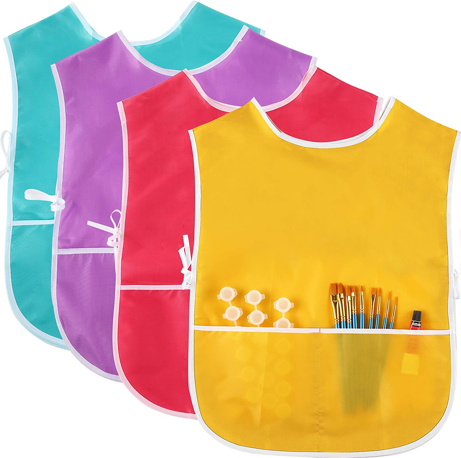 4 Pieces Art New York Mall Smock Max 63% OFF for Artist Painting Apr Waterproof Kids