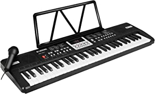 $51 » LAGRIMA LAG-710 61 Key Portable Electric Keyboard Piano with Built In Speakers, LED Screen, Microphone, Dual Power Supply,...