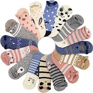 16 Pairs 16 Colors Women Ankle Socks Funny Cute Cartoon Stereoscopic Animals Ear Plush Boat Socks Womens Lady Girl Art Soc...