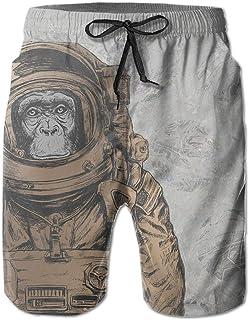 Board Shorts Hateone Mens Swimming Trunks Print Beach Shorts & Pocket Teen Boy Mesh Lining Clothing