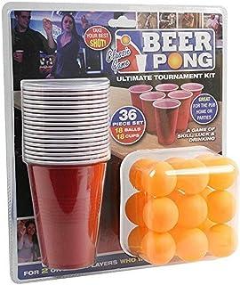 PMS 619028 Lot de 36 pièces pour bière-Pong en Carton doublé Rouge