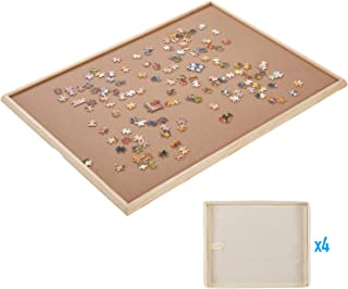"""Standard Size: 29""""×21"""", Puzzle Board, Puzzle Table, Puzzle Tables for Adults, Puzzle Table, Puzzle Tray with 4 Storage Bags"""